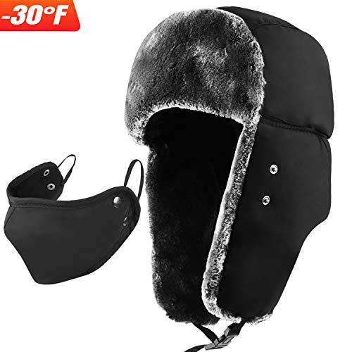 mysuntown Winter Trapper Warm Hat with Windproof Mask