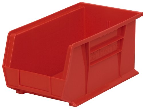 Akro-Mils 30240 Plastic Storage Stacking Hanging Akro Bin, 15-Inch by 8-Inch by 7-Inch, Red, Case of 12 by Akro-Mils