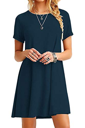 Women's Simple Casual Short-Sleeved T-Shirt with Loose Swing