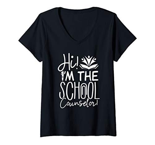 Womens School Counselor Shirt Hi I'm The School