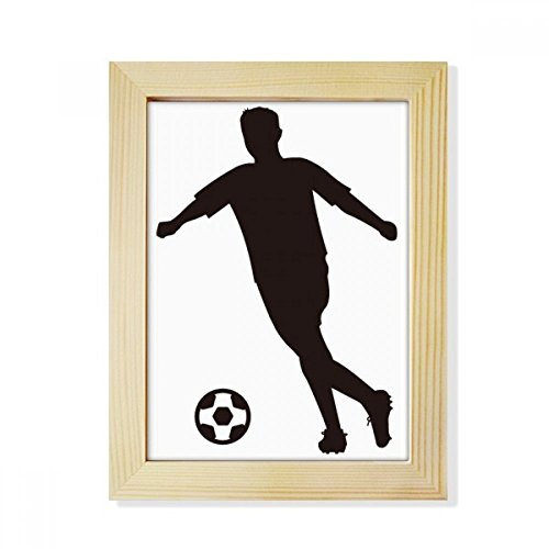 DIYthinker Sports Silhouette Football Soccer Desktop Wooden Photo Frame Picture Art Painting 6x8 inch by DIYthinker