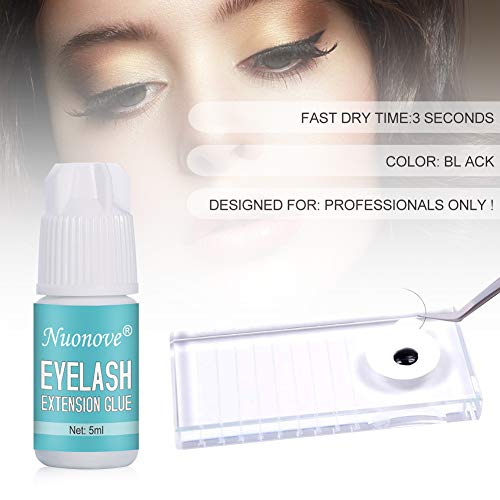 Eyelash Extension Glue, Eyelash glue black,False eyelash glue, Eyelash Glue for Professional Lash Extensions, 3 Sec Dry…