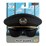 Sun-Staches Costume Sunglasses Black Cap Pilot Party Favors UV400