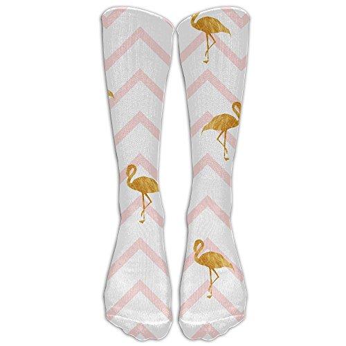 Golden Flamingo Flock Soft Long Socks Women & Men Warmer High Socks For Sports Gym Running Hiking Travel Home - Cottonwood Village