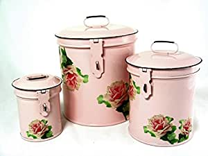 pink canisters kitchen retro vintage canister set kitchen storage canisters e8 14554