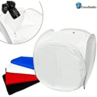 "LimoStudio Photography Table Top 30"" x 30"" Premium Photo Studio Softbox Light Tent Cube with 4 ChromaKey Backdrops, AGG108"