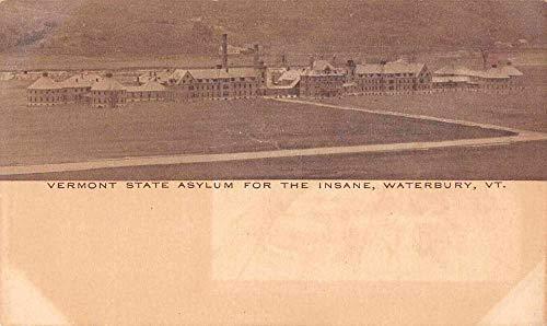 Birdseye View Postcard (Waterbury Vermont State Asylum for the Insane Birds Eye View Postcard JA4742134)