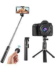 HOBFU Monopod - Palo de Selfie inalámbrico Extensible (rotación de 360º, trípode Selfie, Mando a Distancia, la mayoría de Las Pantallas)
