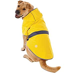 Amazon.com : Good2Go Reversible Dog Raincoat in Yellow