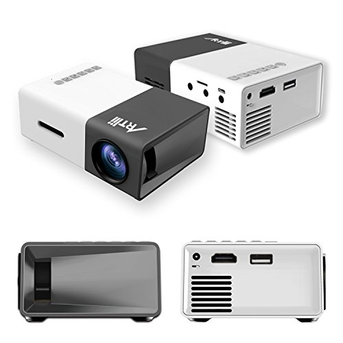 Pico Projector, Artlii Movie iPhone Mini Pocket Laptop Smartphone Projector for Home Cinema Video Party - Black&White by ARTlii (Image #7)