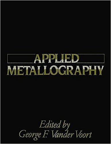Read Applied Metallography PDF, azw (Kindle), ePub
