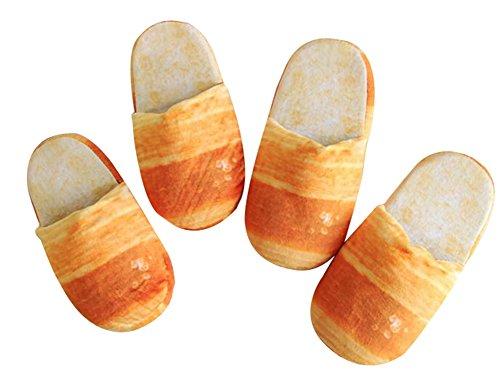 Octobre Elfe Adulte Automne Hiver Pantoufles Maison Chaude Chaussures Pain Français