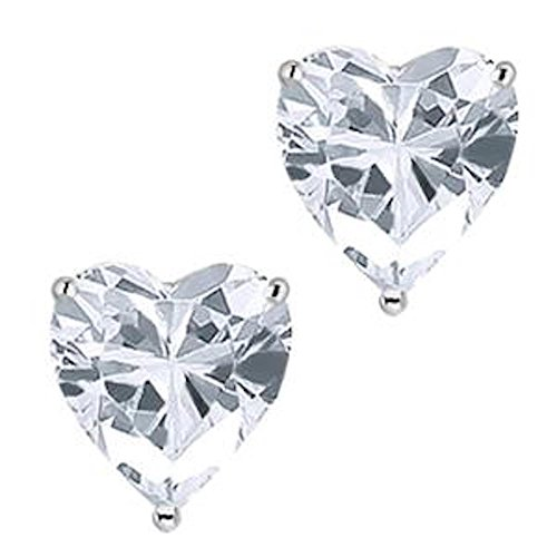 Fronay Collection Sterling Silver Heart Cubic Zirconia Stud Earrings from Fronay Collection