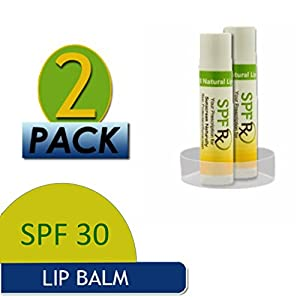 Broad Spectrum SPF Lip Balmwith Vitamin E - Sunscreen with organic oils, for a Highly Protective Natural Organic Moisturizing Chap-Free Balm