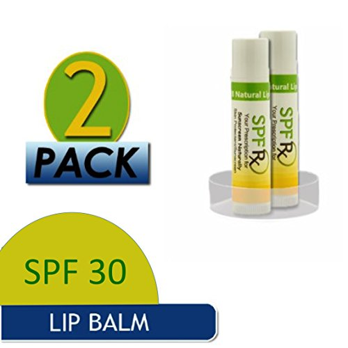 Balm Spf Lip With (Special Sale - Shea-Butter Lip Balm SPF 30 with Vitamin E - Sunscreen with organic oils, for a Highly Protective Natural Organic Moisturizing Chap-Free Balm (2 pack - 0.15 oz, Mango))