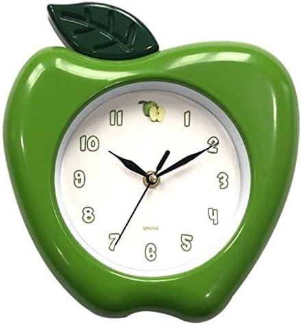 Amazon Com Apple Wall Clock 10 X 9 Home Decor Kitchen Decor Green Home Kitchen