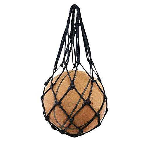 (Wendy Mall Football Accessories Basketball Mesh Net Bag Single Ball Carrier for Volleyball Soccer Basketball (Black))