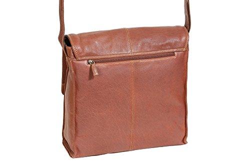 Borsa Lavoro LEAS-Buffalo, Vera Pelle, dark cognac - LEAS Classic Bags