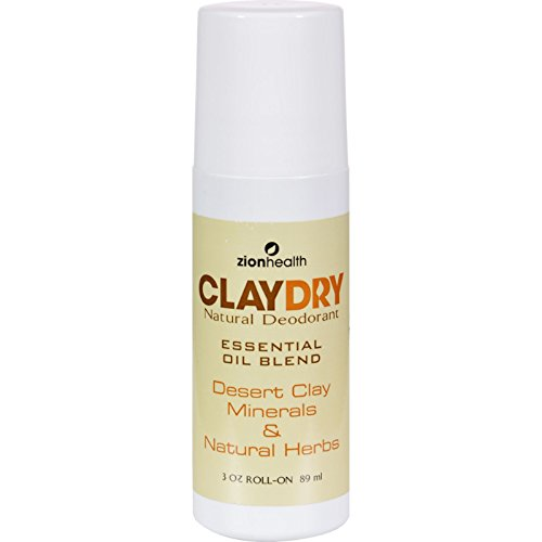 Zion Health Clay Dry Natural Deodorant - Essential Oil Bl...