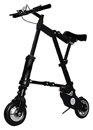 A-Bike Bicicleta Plegable para Electric, Black, M