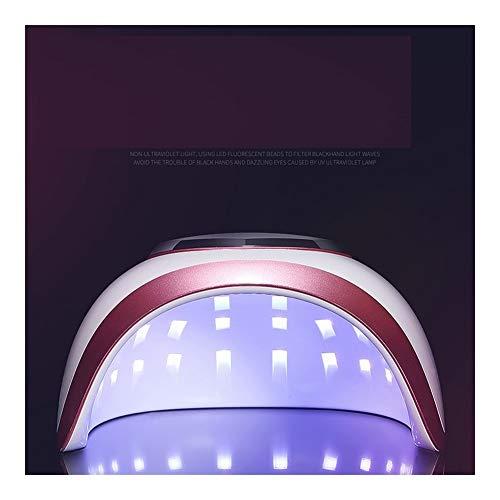 製品感情病なLittleCat 釘LEDランプライト療法機ドライヤーネイルグルーヒートランプ72W速乾性モードインテリジェントセンサー無痛 (色 : 72W red edge European regulations)
