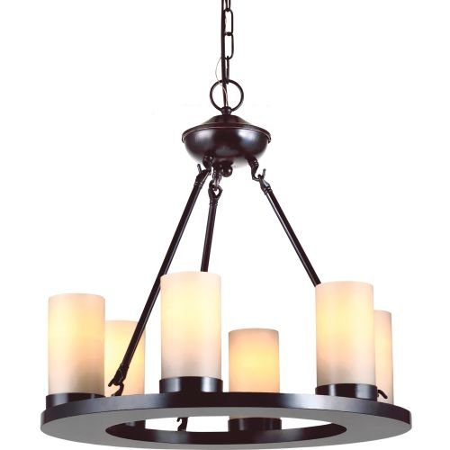 Sea Gull 31586-710 Lighting Ellington 6-Light Burnt Sienna Single Tier Chandelier, 1-Pack