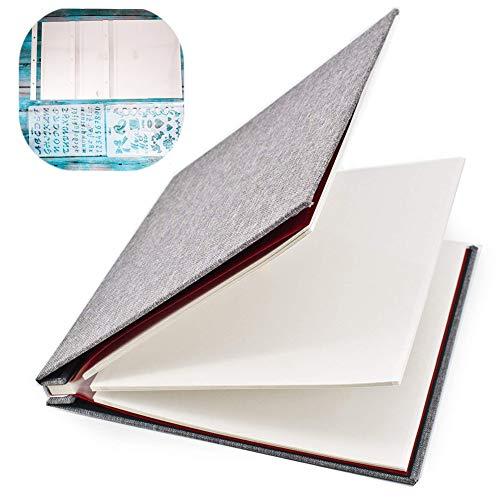 Álbumes de fotos magnéticos autoadhesivos hechos a mano, álbumes de fotos familiares, 40 páginas (20 hojas), color gris