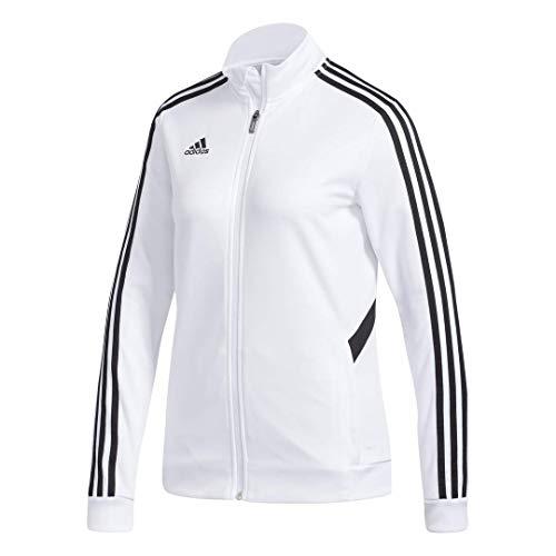 (adidas Women's Alphaskin Tiro Training Jacket, White/Black, Large)