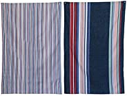 Creative Co-op Striped Cotton Tea Towels - Set of 2