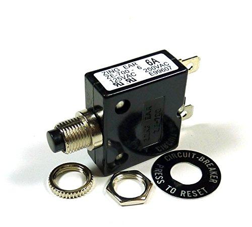6 AMP 50VDC, 250VAC CIRCUIT BREAKER ()