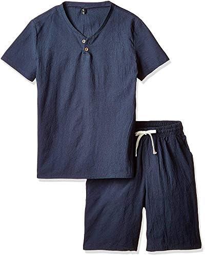メンズ Tシャツ 半袖 トップス ハーフ ショート パンツ 上下 セット アップ 無地 柄 部屋着 PP-3