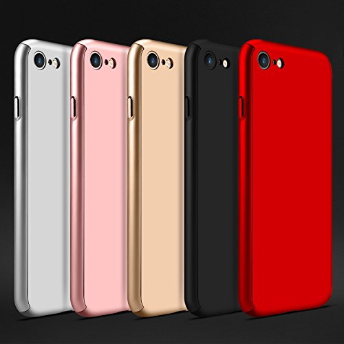 classic fit f4099 b617b iPhone 8 Case,sxxissky Ultra-Thin Full Body Coverage Hard Hybrid Plastic  with [Tempered Glass Screen Protector] Protective Case Cover & Skin for  Apple ...