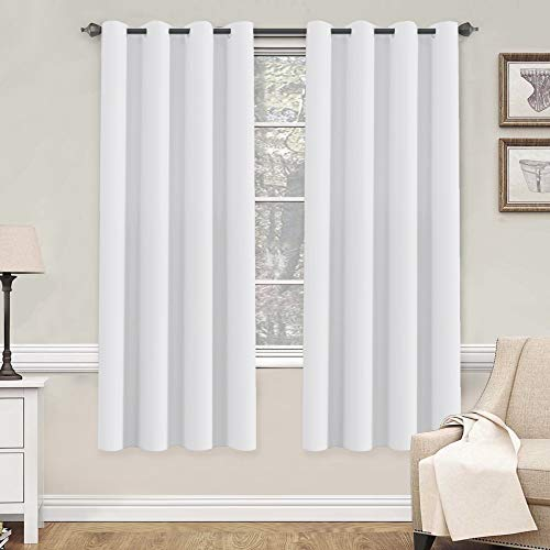 Softening Thermal - H.VERSAILTEX White Curtains 72 inches Long for Living Room Thermal Insulated Window Treatment Panels/Drapes - (White Color) - Set of 2 - Grommet Top