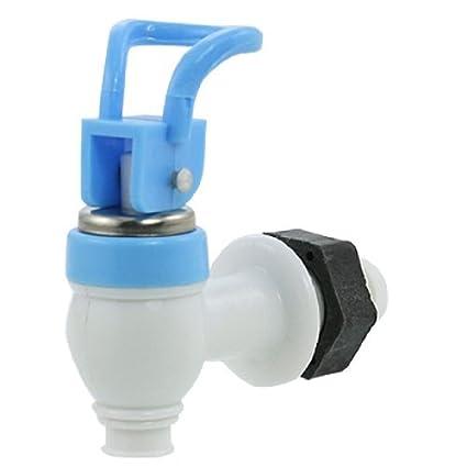 DealMux dispensador de água de peças de reposição Empurre Tipo azul plástico branco Faucet Tap