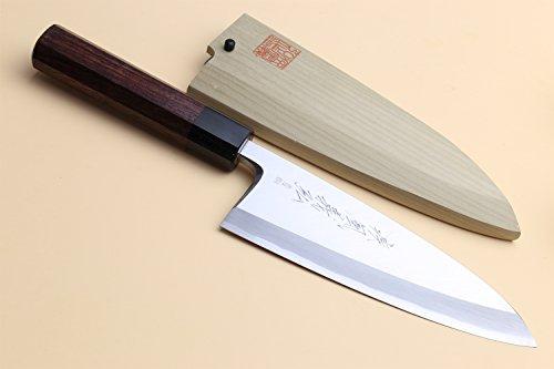 Yoshihiro Hongasumi Blue Steel #2 Deba fish fillet Chef Knife Shitan handle (7'' (180mm)) by Yoshihiro