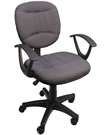 Charcoal Grey Fabric Office Chair W/Arms, Gas Lift U0026 Great Student Or  Computer