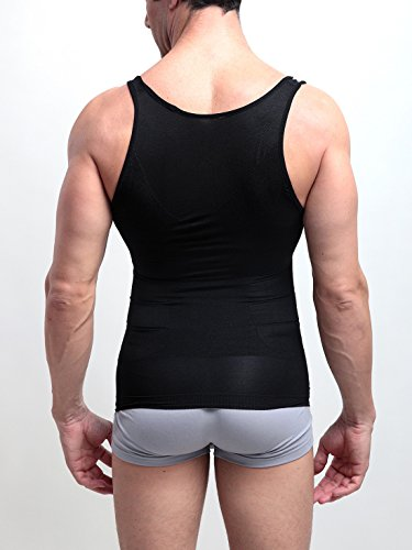 FEOYA Men's Body Shaper Vest Tummy Waist Control Shirts Abs Abdomen Slim Tanks