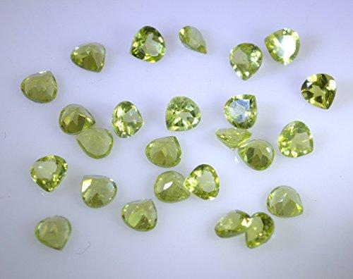 pierres précieuses en vrac peridote 1 pièces 6 x 6 mm trillions verte pierres précieuses facettes
