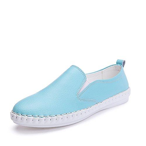 Angrousobiu Bones scarpe donna con Leisure bianco Wild scarpe scarpe pelle piatta di Lazy Il piccolo donne colore singolo piatta da rxYAnrqw5