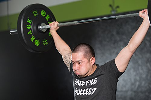 RAGE Fitness Olympic Training Barbell, For Weightlifting and Power Lifting