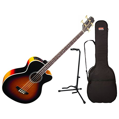 Takamine GB72CE-BSB Acoustic Bass Guitar With Gig Bag and Stand ()