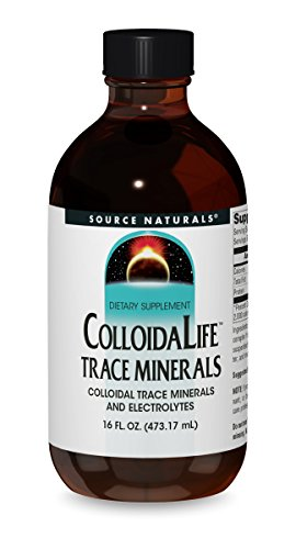 Source Naturals Colloida Life Trace Minerals Collidal Trace Minerals & Electrolytes - Dietary Supplement - Pure Source of Calcium, Chromium, Copper, Potassium, Zinc & More - 100% Pure - 16oz (Best Source Of Electrolytes)