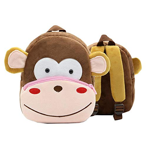 Niedlicher Affe Kleinkind-Rucksack Kindertasche Tierkarikatur Kleine Reisetasche für Baby Girl Boy 2-4 Jahre alt Weihnachtsgeschenk Geburtstagsgeschenk M