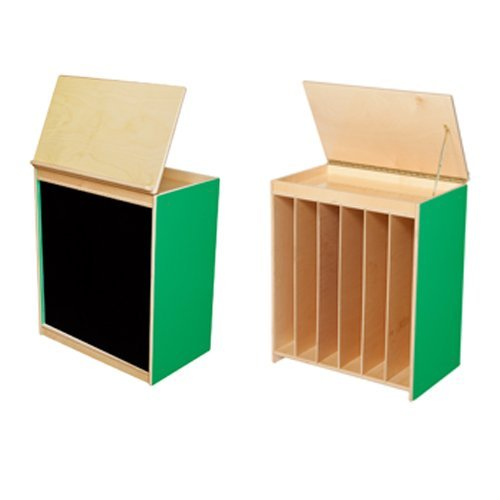 Wood Designs WD44100G Green Apple Big Book Display with Flannel