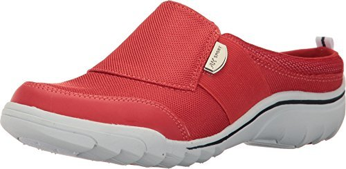 Anne Klein Womens Guardless Fabric Low Top Slip On Fashion, Red, Size 5.0