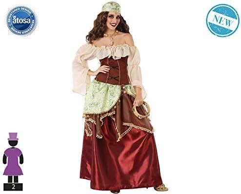 Atosa-61562 Atosa-61562-Disfraz Gitana-Adulto Mujer, Color marrón ...