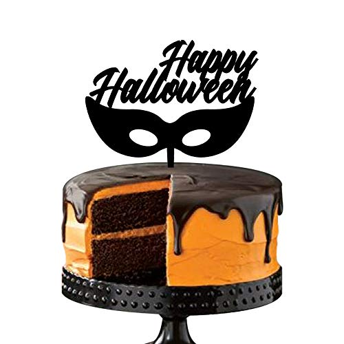 Halloween Wedding Cake Topper - Beauty Mask - for Halloween Party Decoration Supplies ()