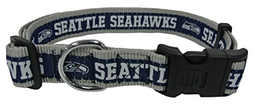 Pets First NFL Seattle Seahawks Dog Collar, X-Large (Seahawk Dog Bandana)