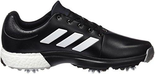 Adidas adiPower Boost 58Scarpe di Allarga Larga, Uomo, Nero/Bianco/Argento, 44