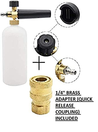 STARQ Car Washer Snow Foam Lance Bottle All Starq Models Compatible Adjustable 1L Set Plus Brass Adapter